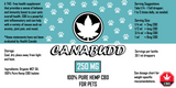 Hemp CBD Pet Tincture - 250MG - 30ML