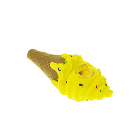 Silicone Ice Cream Pipe - Yellow
