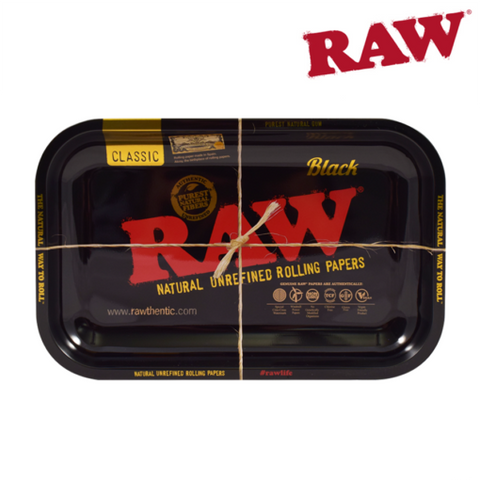 RAW Rolling Tray - Black - Medium