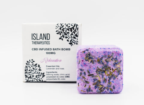 Island Therapeutics 100mg Infused Bath Bomb – Relaxation Blend