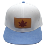 White/ Blue Leaf Lid