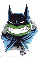 DF BATMAN TMNT ADVENTURES #1 HAESER REMARK SGN (C: 0-1-2)