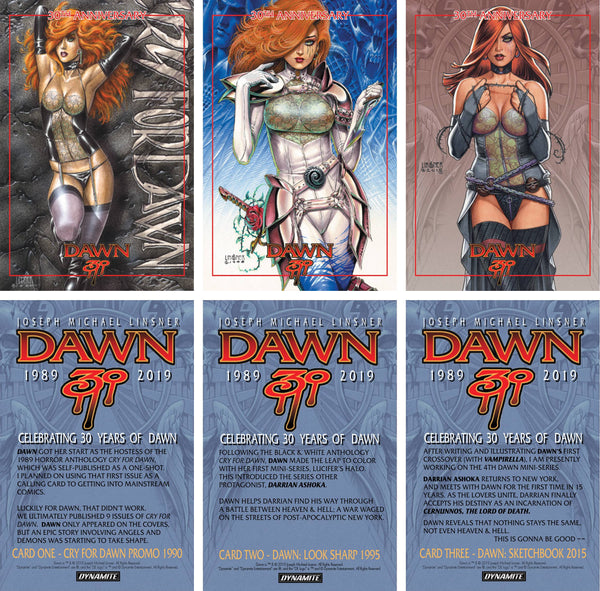 JOSEPH MICHAEL LINSNER DAWN LTD ED PROMO CARDS (C: 0-1-2)