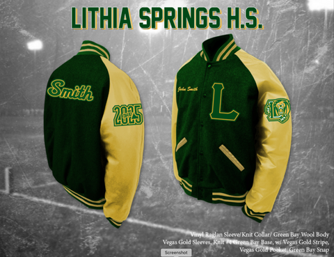 Lithia Springs HS Letterman Jacket