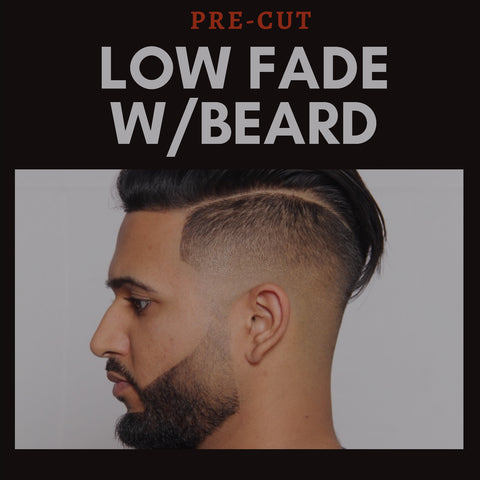 NASHVILLE PRE-CUT) LOW FADE W/BEARD competition.