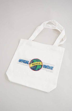 "OFFICIAL VINTAGE ""RECYCLE"" TOTE BAG"