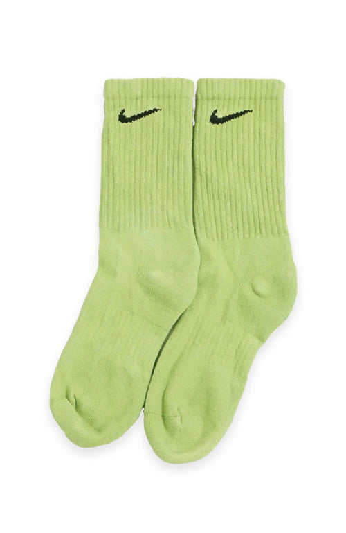 NIKE BLOCK COLOUR CREW SOCKS GREEN