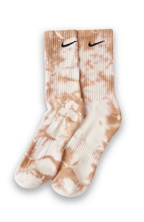 NIKE TIE DYE COLOUR CREW SOCKS CARAMEL