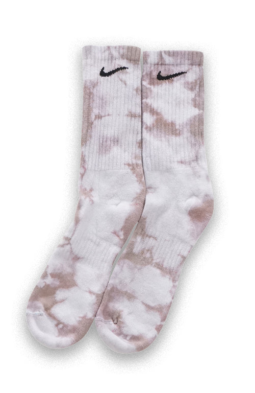 NIKE TIE DYE COLOUR CREW SOCKS CONCRETE