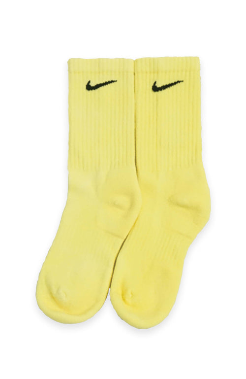 NIKE BLOCK COLOUR CREW SOCKS YELLOW