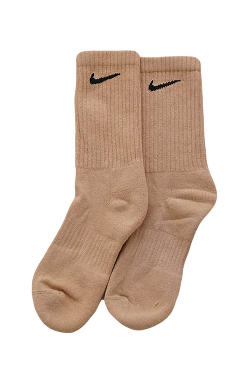 NIKE BLOCK COLOUR CREW SOCKS CARAMEL