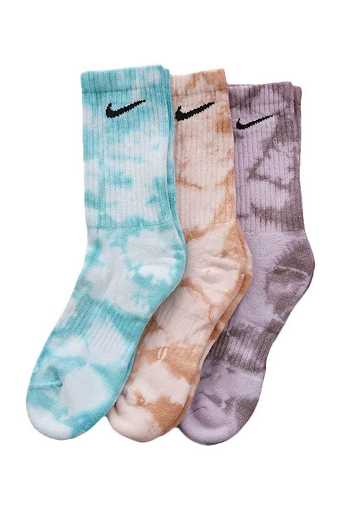 NIKE TIE DYE COLOUR CREW SOCK GIFT PACK