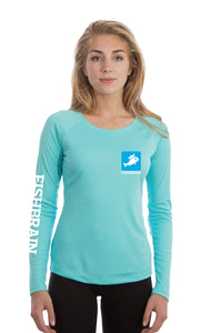 Fishbrain Women's Long-Sleeve Shirt - Water Blue