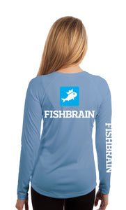 Fishbrain Women's Long-Sleeve Shirt - Columbia Blue
