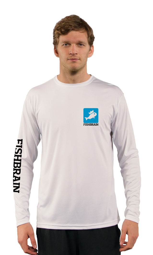 Fishbrain Men's Long-Sleeve Shirt - White