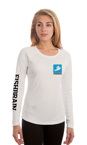 Fishbrain Women's Long-Sleeve Shirt - White