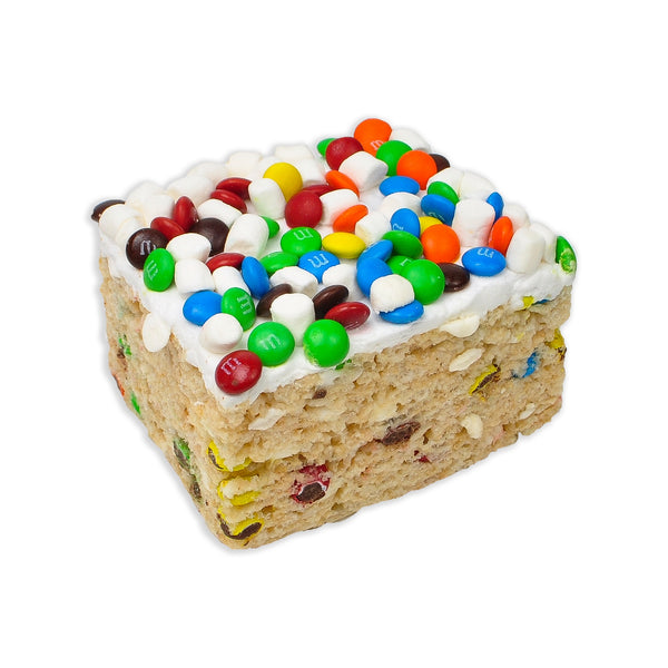 Jumbo M&M Rice Krispie Treat