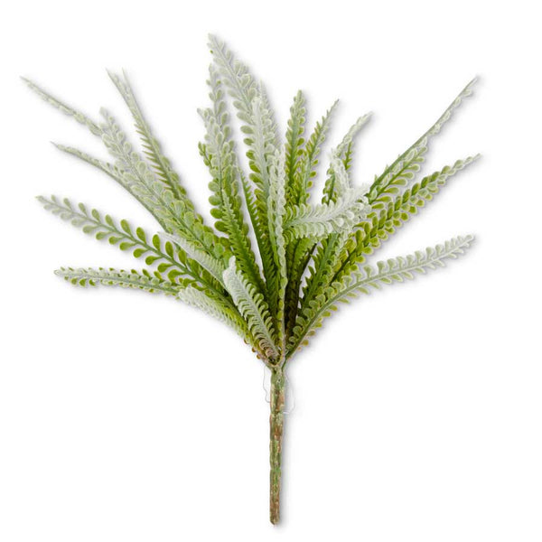 Soft Green Flocked Foliage Bush