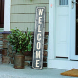 Porch Sign Gray Wash Welcome