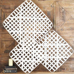 White Wood Weave Tobacco Basket