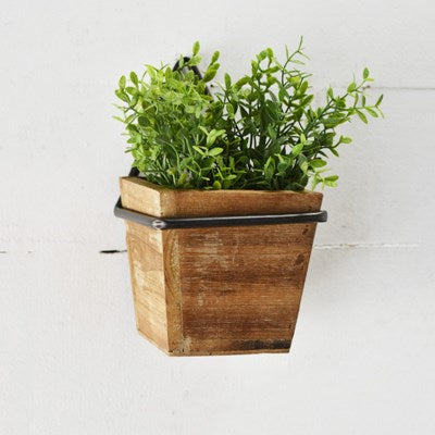 Wood & Metal Wall Planter