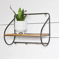 Modern Wall Shelf with Hooks
