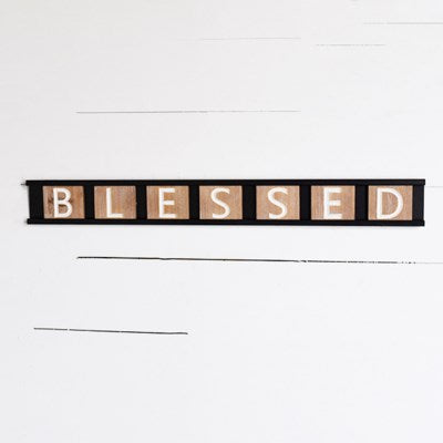 Tin Blessed Sign | 30""