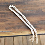"28"" Washed Beads With Tassle"