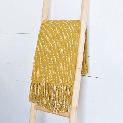 Mustard Cotton Throw | 67""