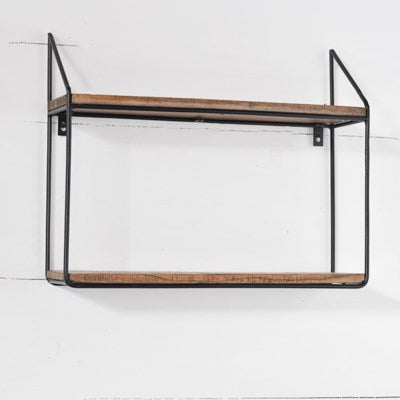 "18x22"" Wood & Metal Shelf 