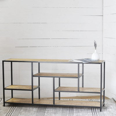 (Lala) Iron & Wood Table LOCAL PICKUP ONLY