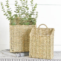 Metal and Seagrass Basket | Bohemian Coast