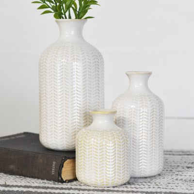 Ceramic Chevron Vase