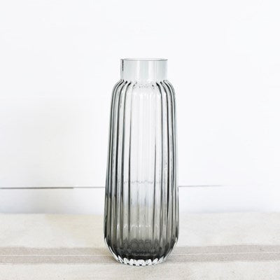 Tall Charcoal Stripe Vase