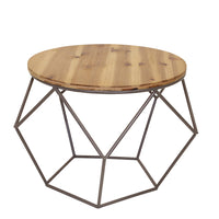Round Geometric Accent Table