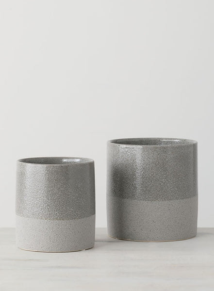 Gray Flower Pots