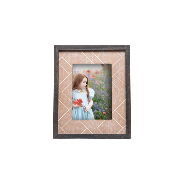 Heritage Natural & Black Photo Frame