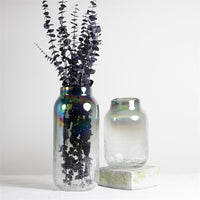 Iridescent Crackle Vase
