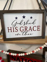 8x12 God Shed His Grace on Thee
