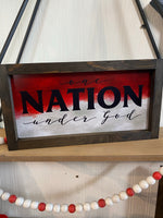 6x12 Watercolor One Nation Under God