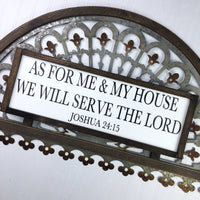 8x20 As For Me and My House We Will Serve the Lord