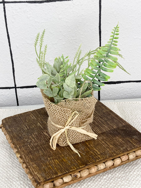 Easter Mixed Greens in Burlap