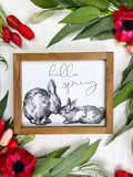 Hello Spring with Sketched Bunnies
