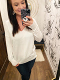 Ella Sweater  {Off White}