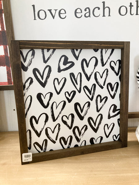 Valentine Black Heart Pattern