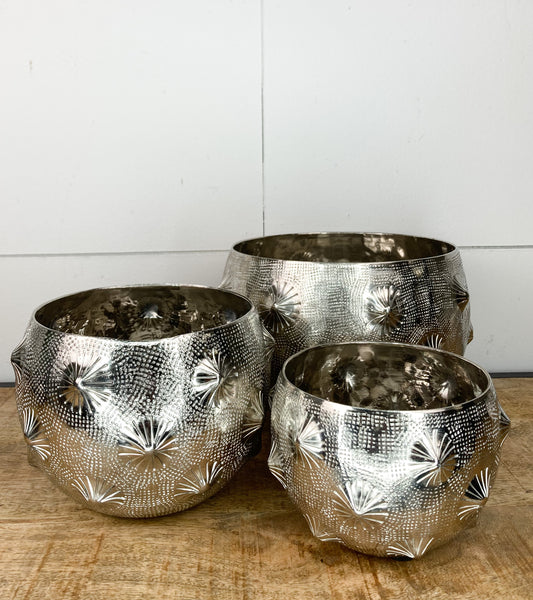 Nickel Plated Planter ( Caroline)