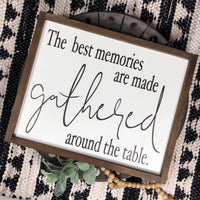 16x20 The Best Memories are Made Gathered Around the Table