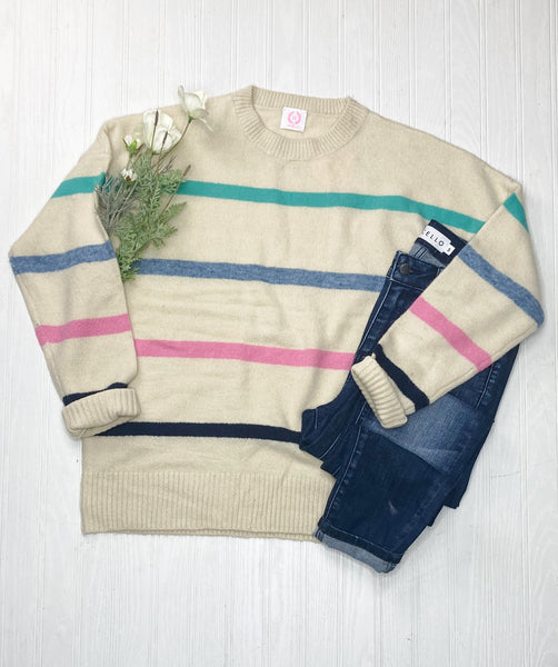Avril Stripe Sweater