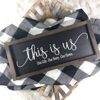 "8""x20"" This is Us Black"