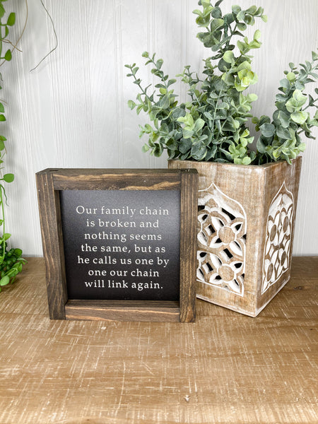 Our Family Chain Is Broken | Cape Cod Collection